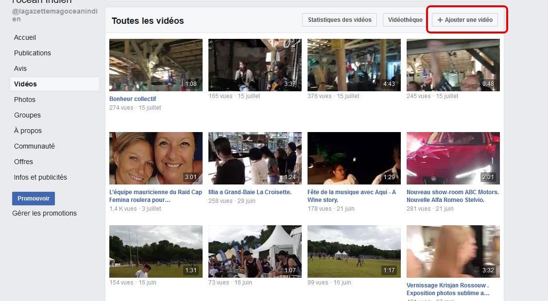 Vidéo Facebook